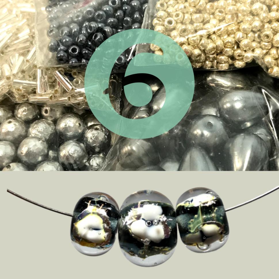 korálky, vinuté perle